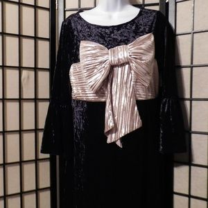 Xhilaration VELVET DRESS WITH BIG BOW NWOT